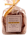 RUSTIC BAKERY HAZELNUT & SULTANA RAISIN PANFORTE, ORGANIC, HAND-MADE, 4 OZ